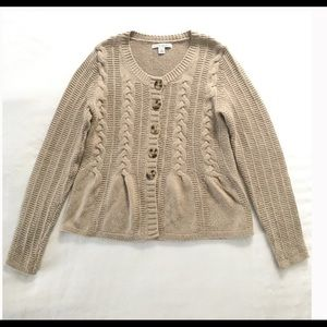 Banana Republic Cable Knit Button Up Cardigan